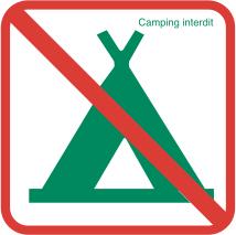 Zelten verboten