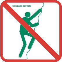 Escalade interdite